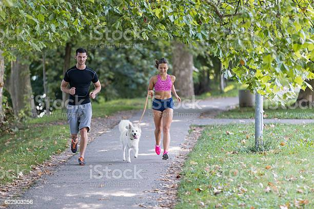 Young caucasian couple with dog running in park picture id622903256?b=1&k=6&m=622903256&s=612x612&h=0oiqj6rswwp4 ebsowouigfypb8ndohhon6z wb8yh0=