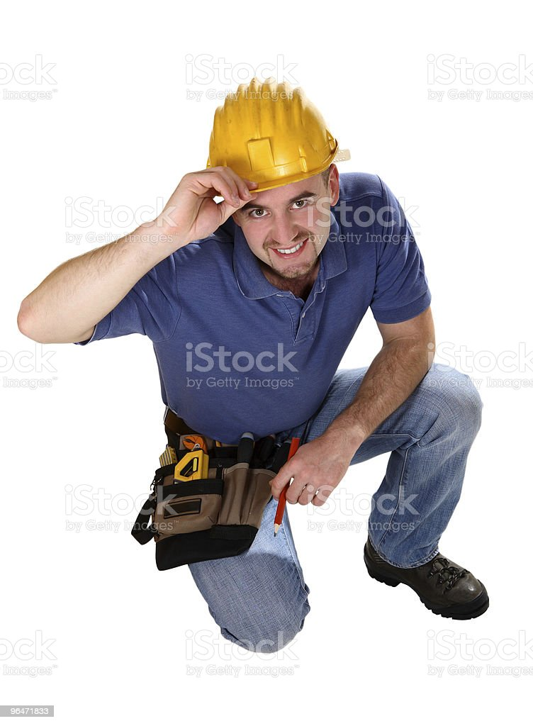 Young caucasian man tool friendly royalty-free stock photo