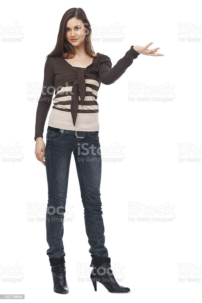 Young Caucasian woman royalty-free stock photo