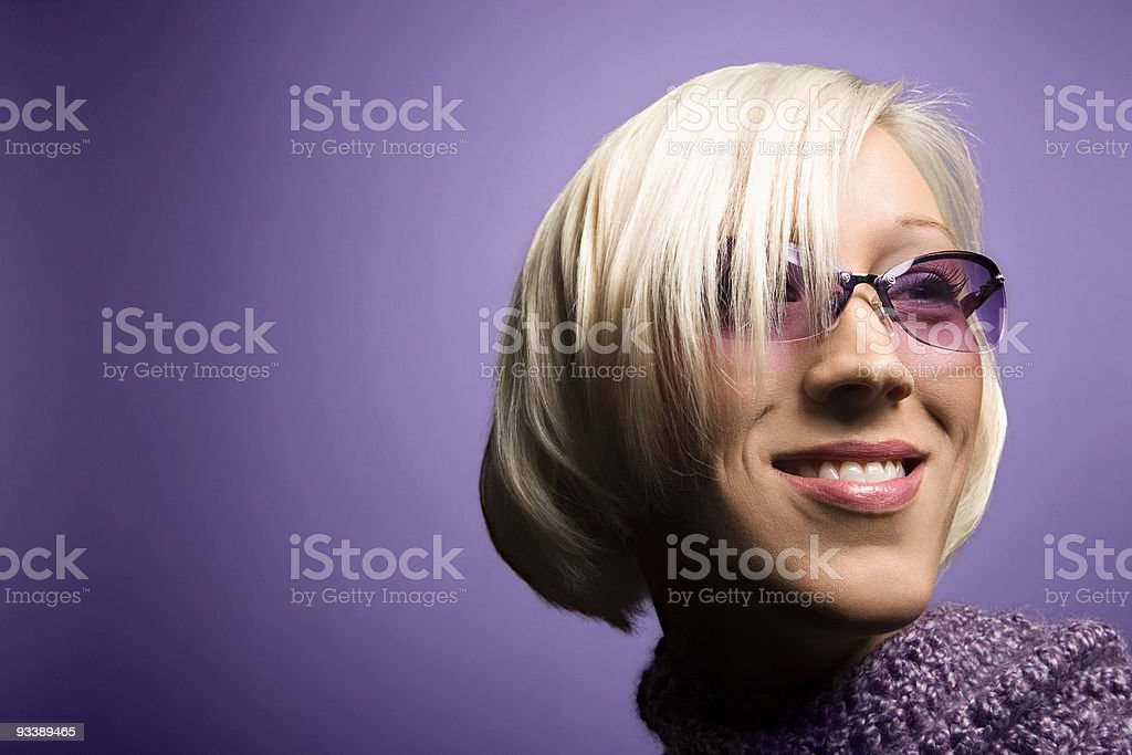 Young Caucasian woman portrait. royalty-free stock photo