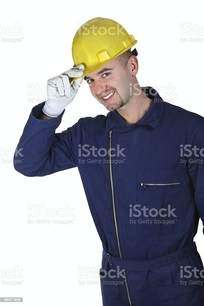 young caucasian worker heavy industry royalty-free stock photo