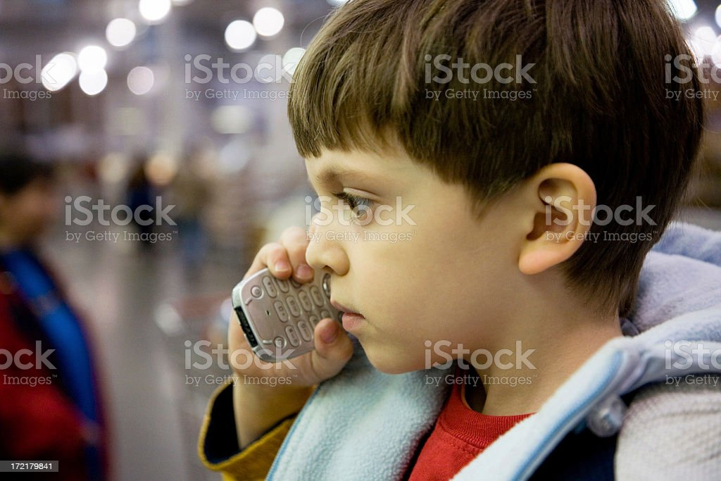 Young Cell Phone User royalty-free stock photo