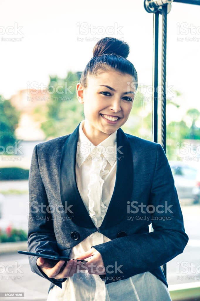 Young cheerful female executive royalty-free stock photo
