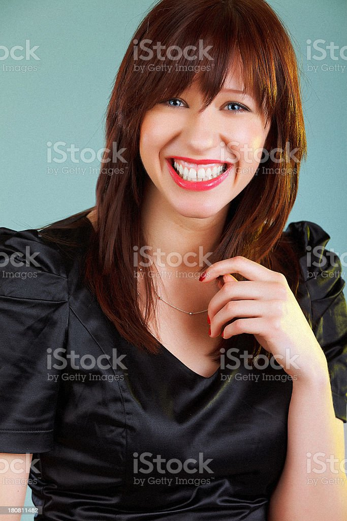 Young cheerful woman royalty-free stock photo