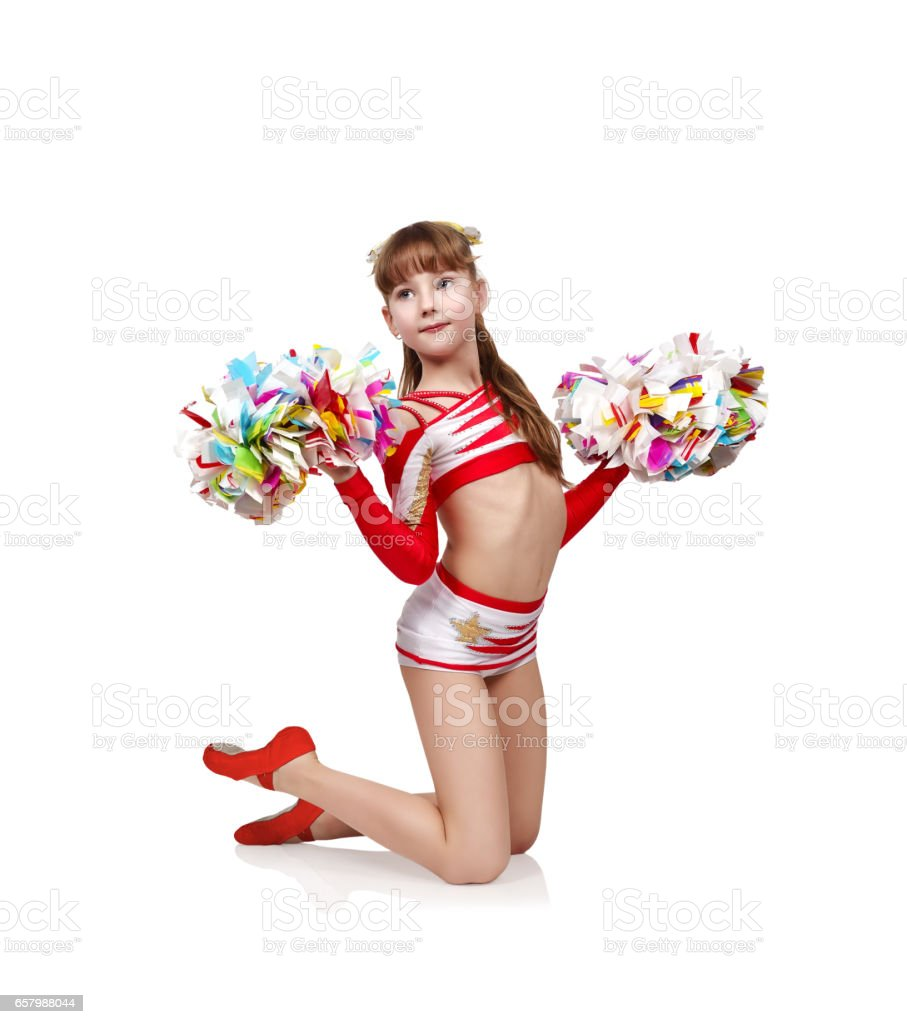 Young Cheerleader Girl Foto De Stock Libre De Derechos