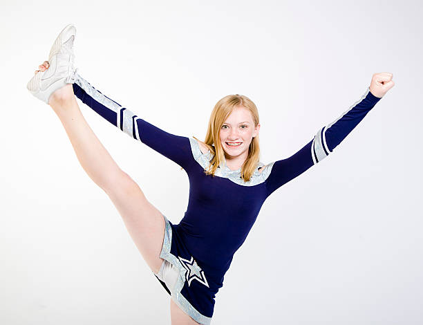 young cheerleader - skirt stock photos and pictures