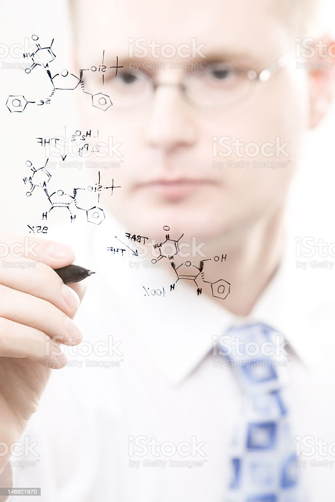 young chemist royalty-free stock photo