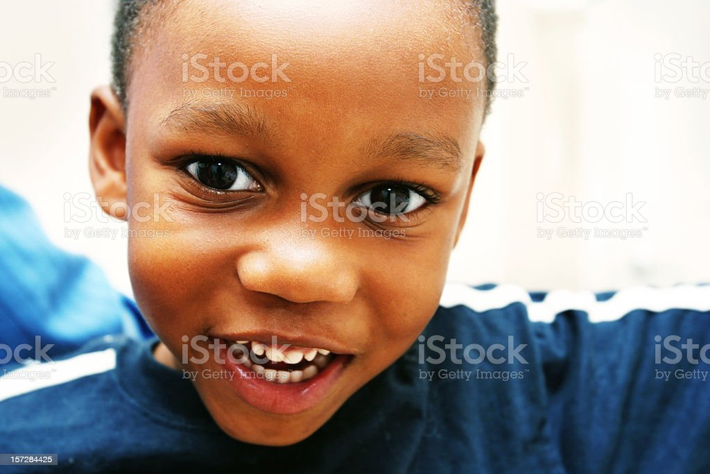 Young Child About to Talk royalty-free stock photo