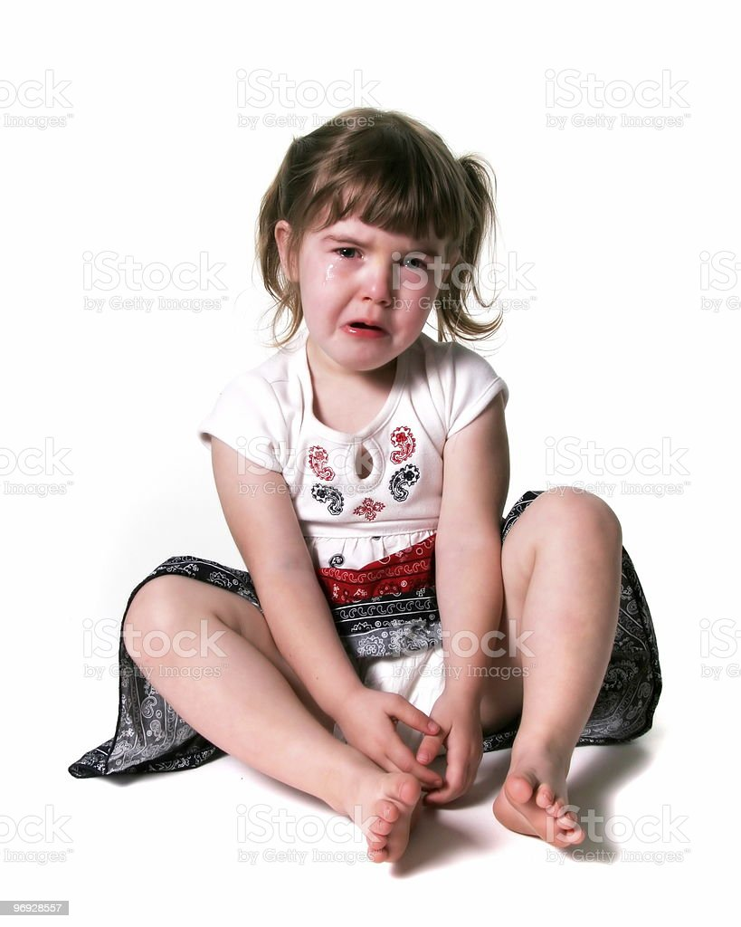 Young Child Crying royalty-free stock photo