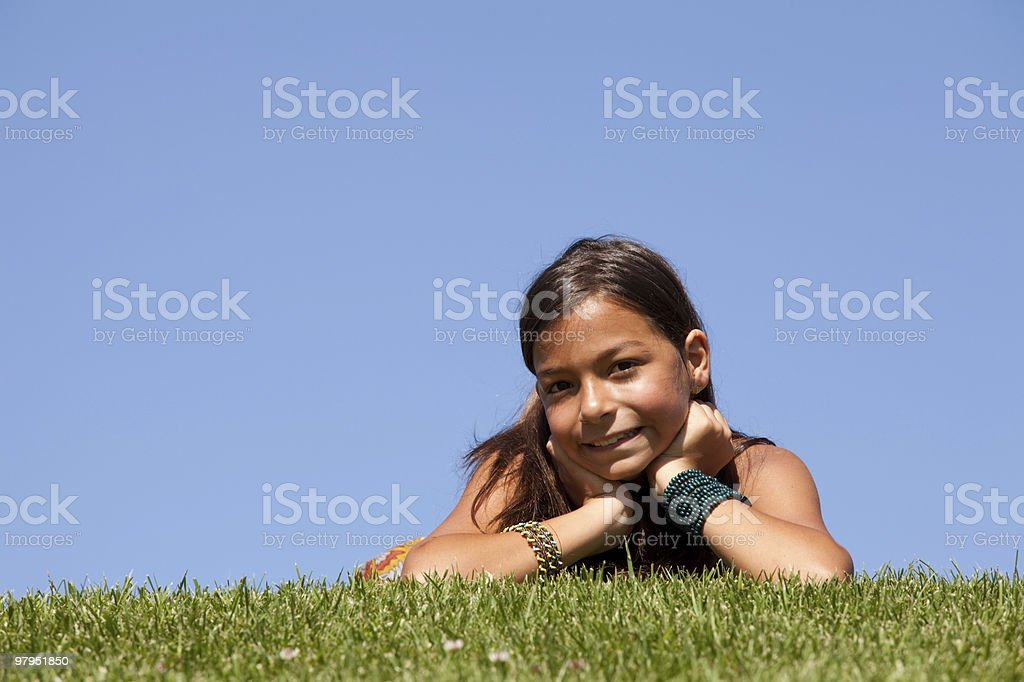 young child on the grass royalty-free stock photo