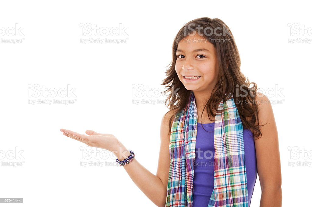 young child showing something royalty-free stock photo