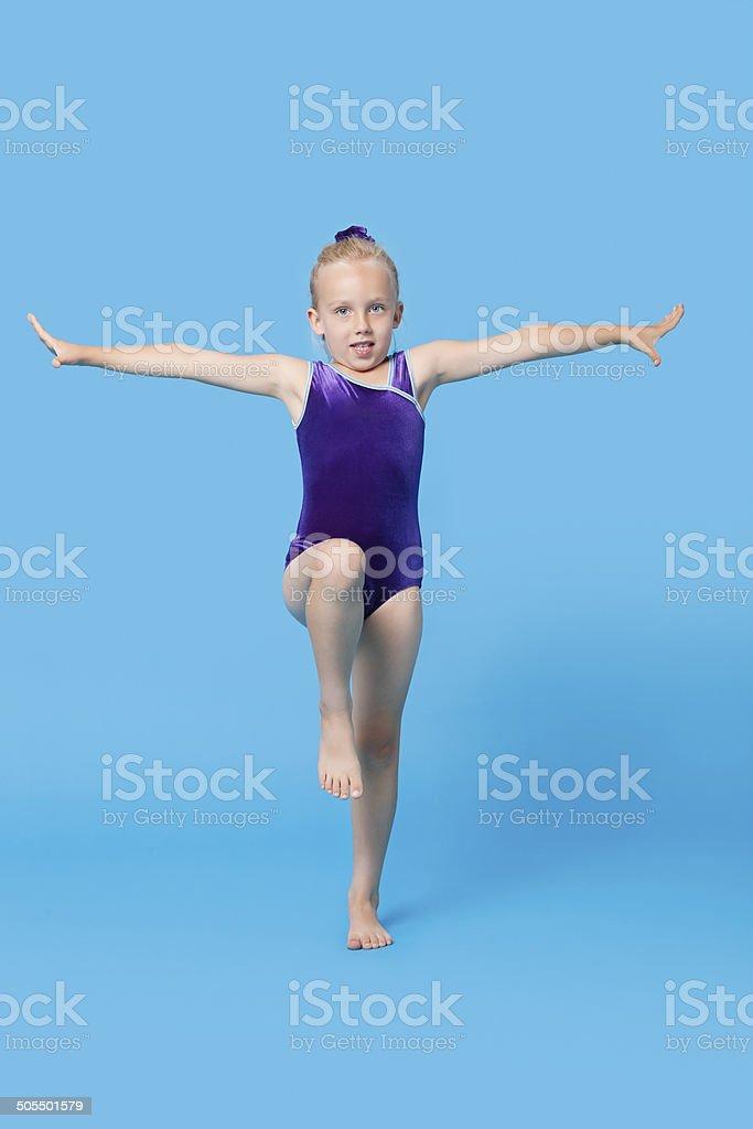 Young child studio portrait stock photo