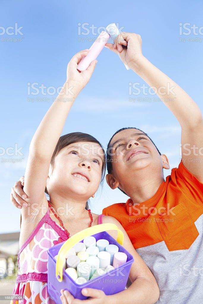 Young children bonding royalty-free stock photo