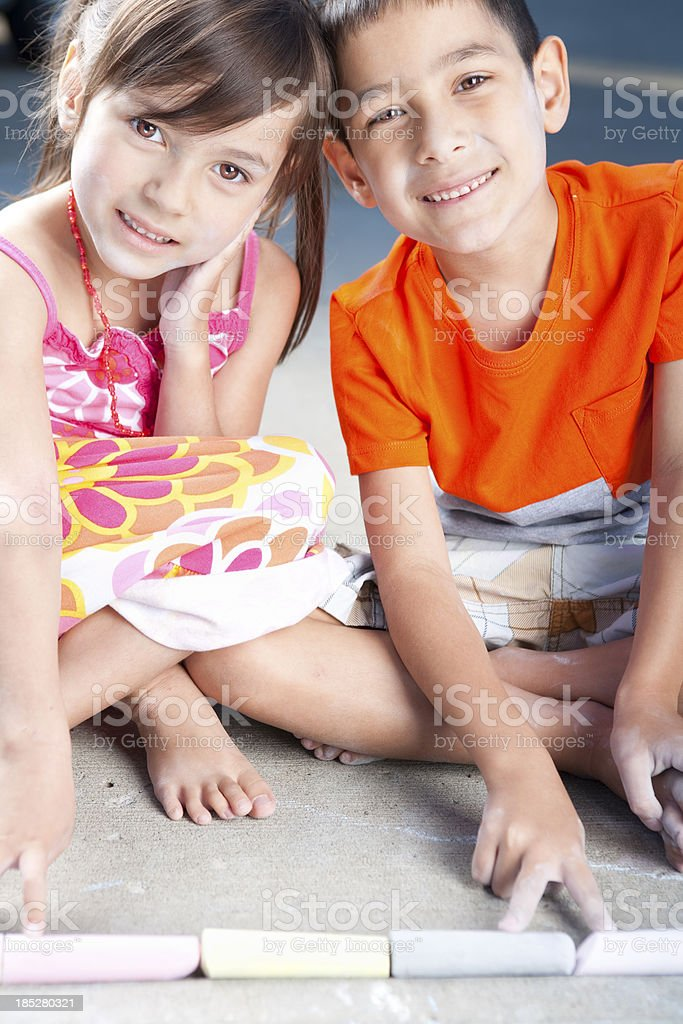 Young children bonding stock photo