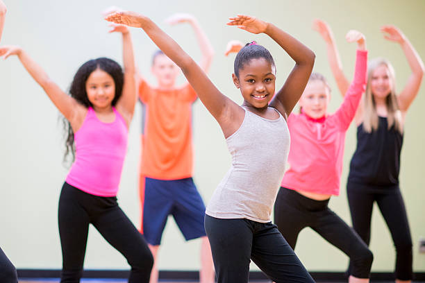 young children practicing dance - dance class stock photos and pictures