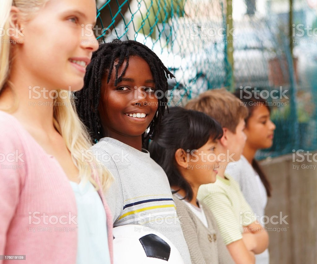 Young children standing together royalty-free stock photo
