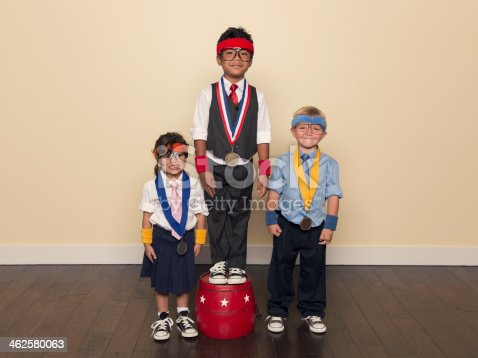 istock Young Children wearing Medals from Office Competition 462580063