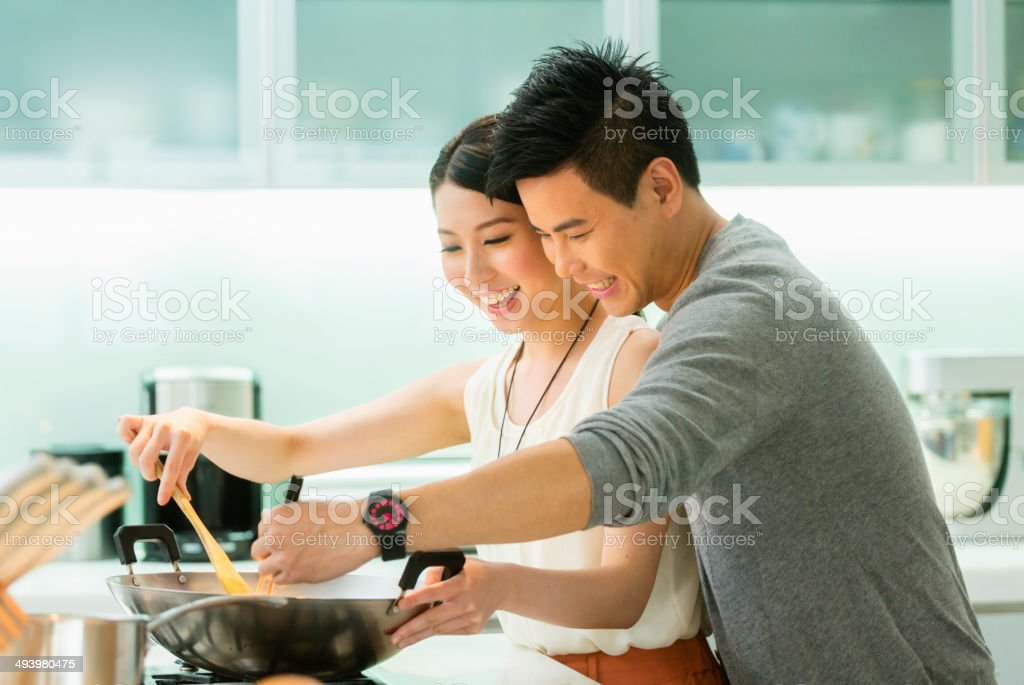Young Chinese Couple royalty-free stock photo