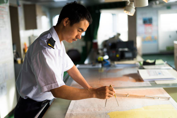 Young Chinese Navigator stock photo