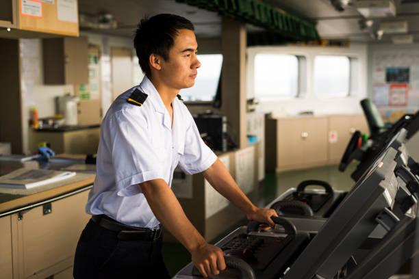 Young Chinese Navigator stock photo