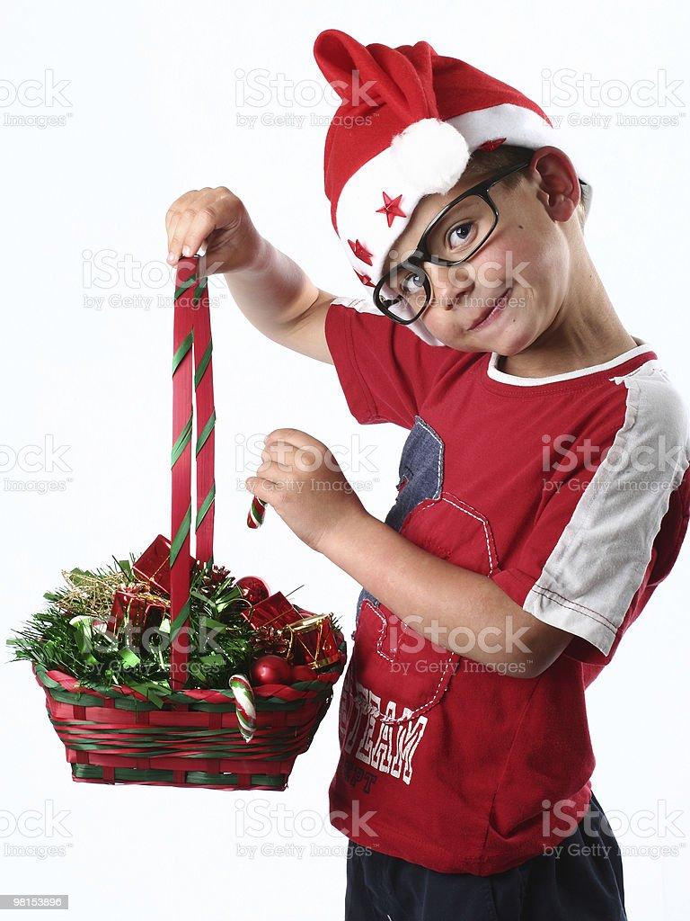 Giovane ragazzo di Natale foto stock royalty-free