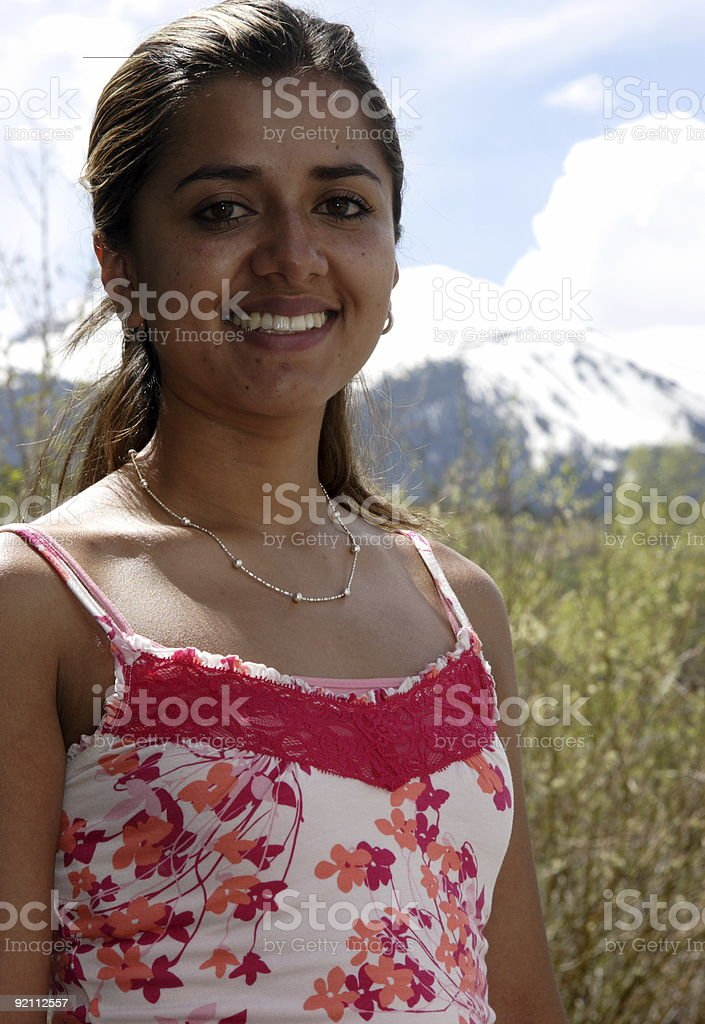young Colombian latin woman royalty-free stock photo