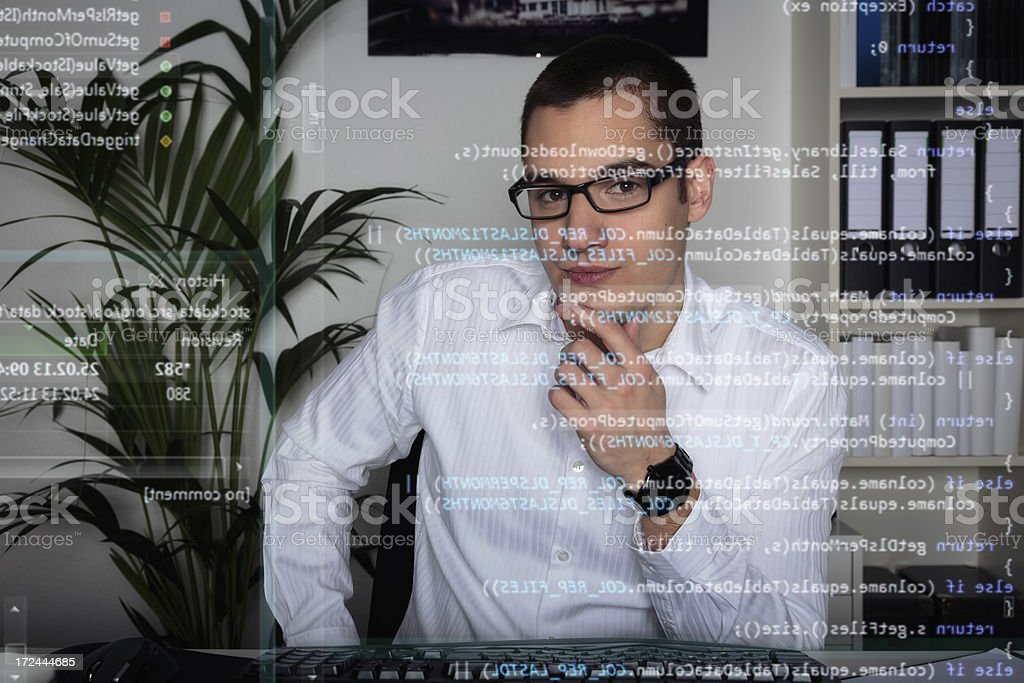 young computer programmer royalty-free stock photo