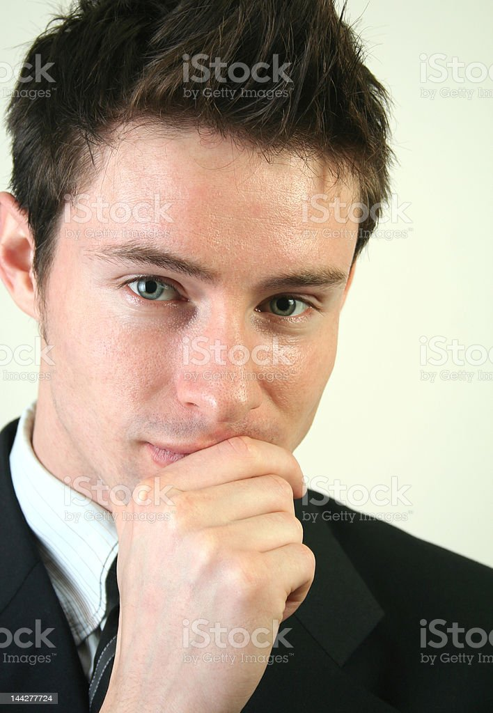 Young confident businessman (series) royalty-free stock photo