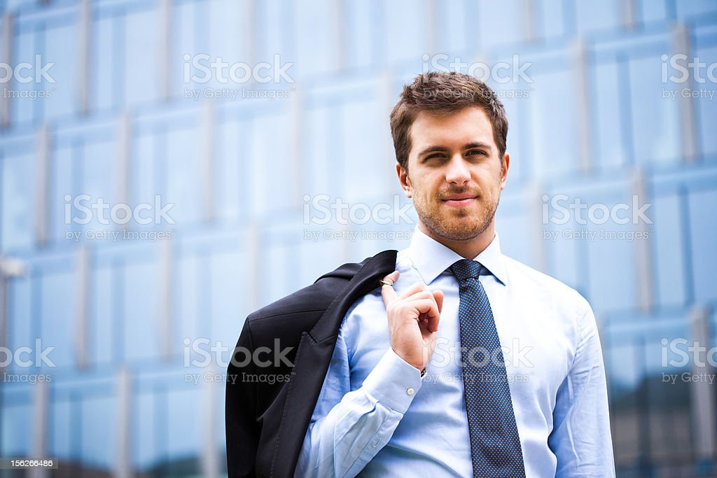 Young confident businessman royalty-free stock photo
