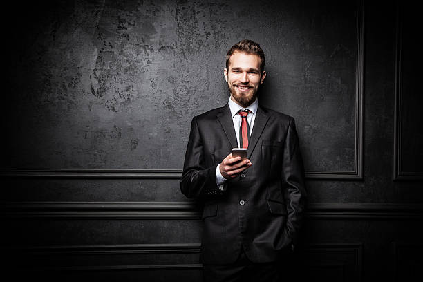 Young confident businessman stock photo
