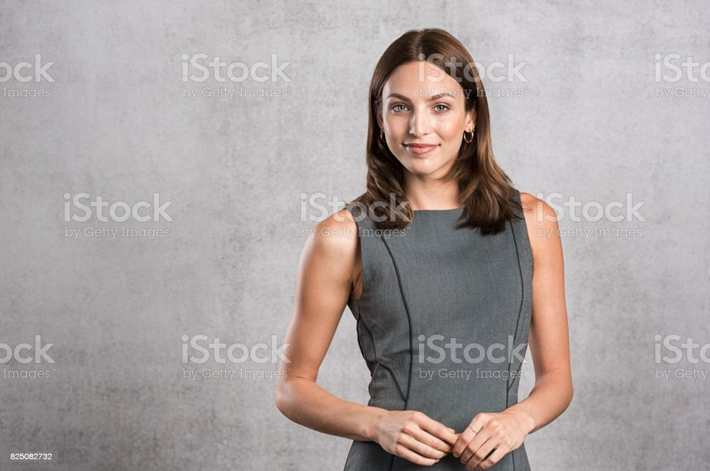 Young confident businesswoman stock photo