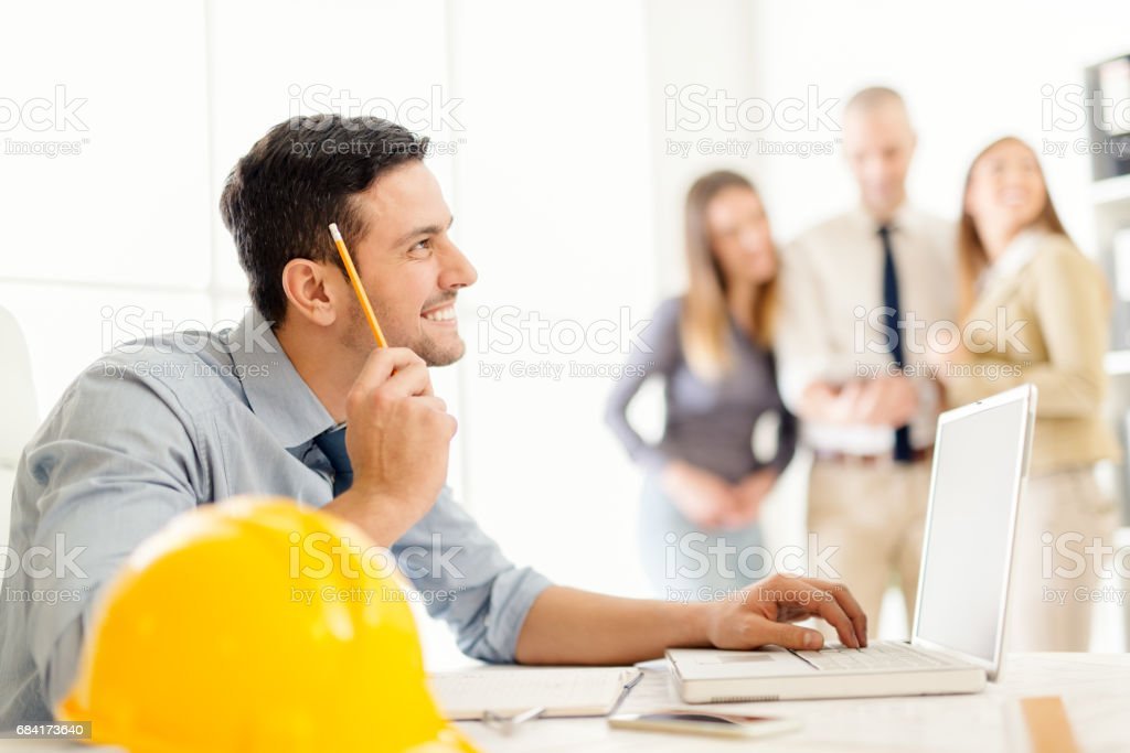 Young Construction Engineer royalty-free stock photo