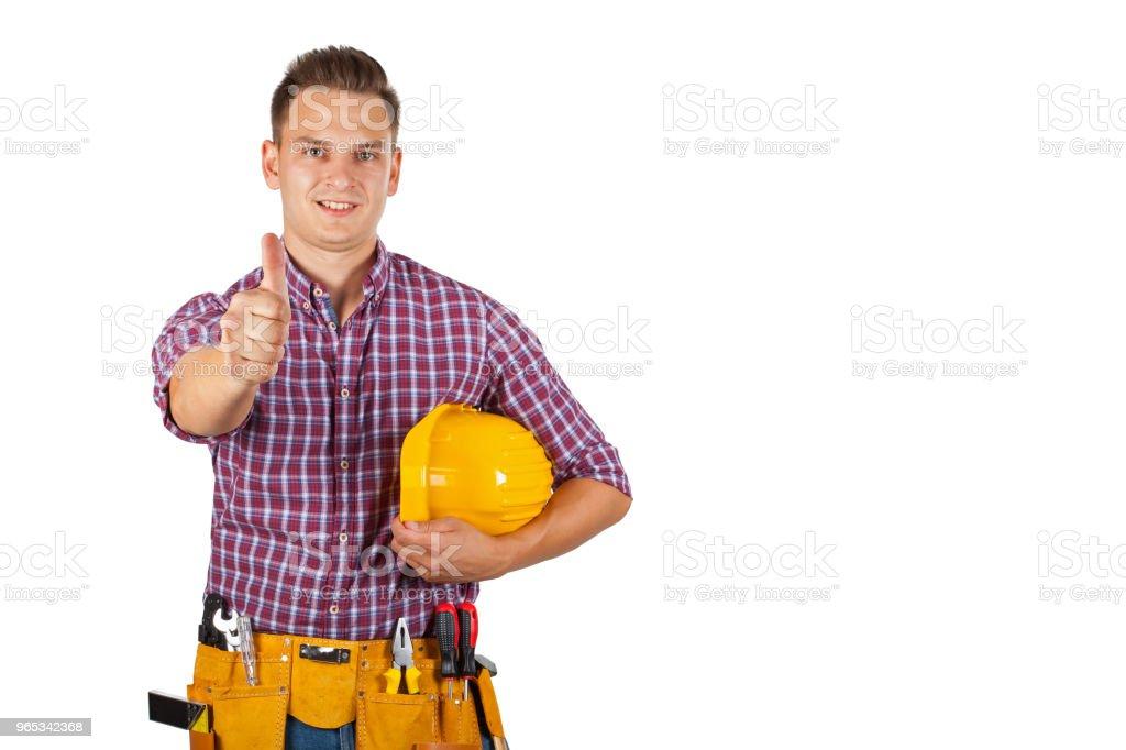 Young construction worker zbiór zdjęć royalty-free