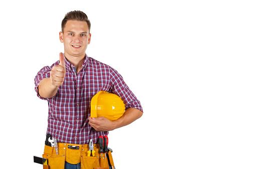 젊은 공사장 인부 Employee에 대한 스톡 사진 및 기타 이미지