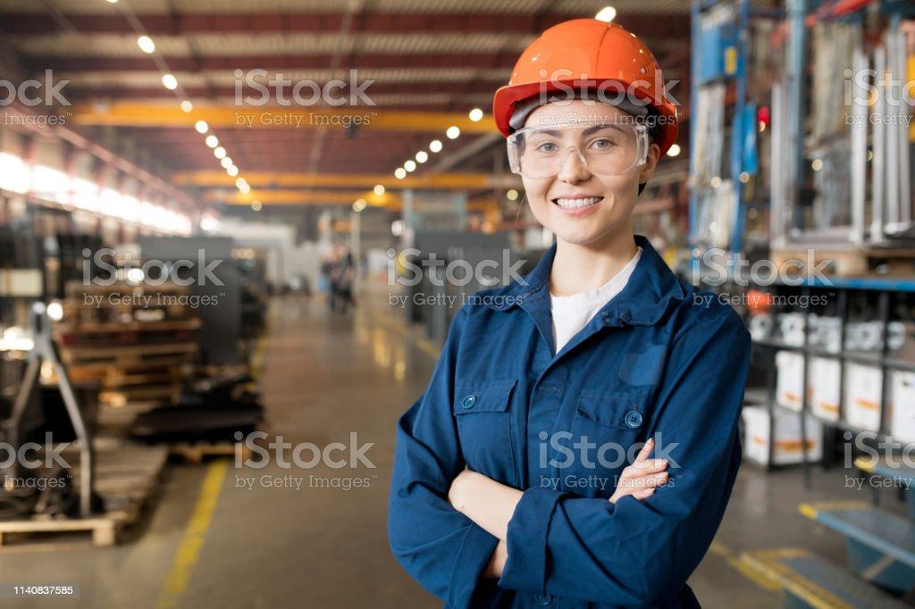Junge Kontrolliererin - Lizenzfrei Arbeiten Stock-Foto