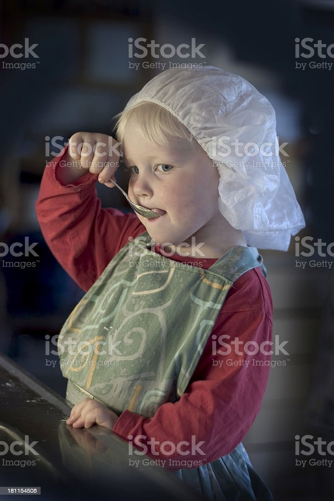 young cook royalty-free stock photo
