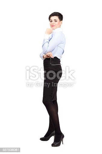 620404536istockphoto Young corporate woman posing holding eyeglasses 537536081