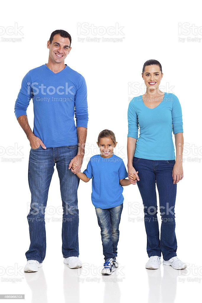 young couple and daughter royalty-free stock photo