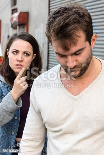 istock Young couple arguing 539105094