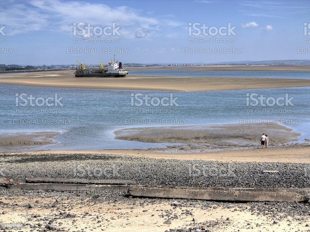 Young couple at the seashore royalty-free stock photo