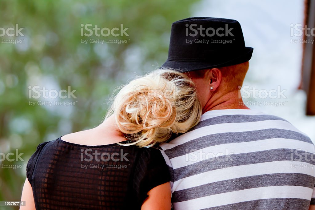 Young Couple Backview stock photo