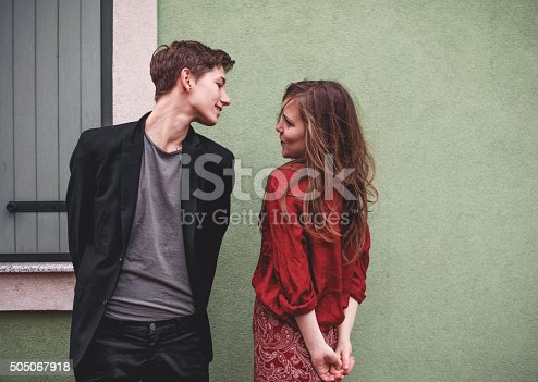 istock Young couple being in love. 505067918