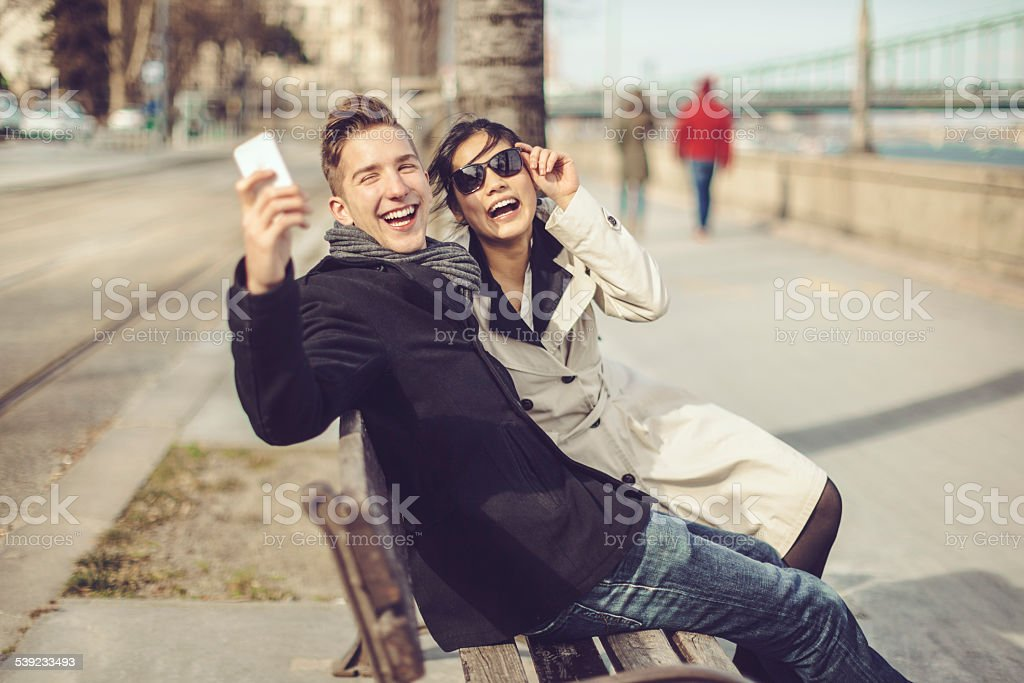 Young couple being together royalty-free stock photo