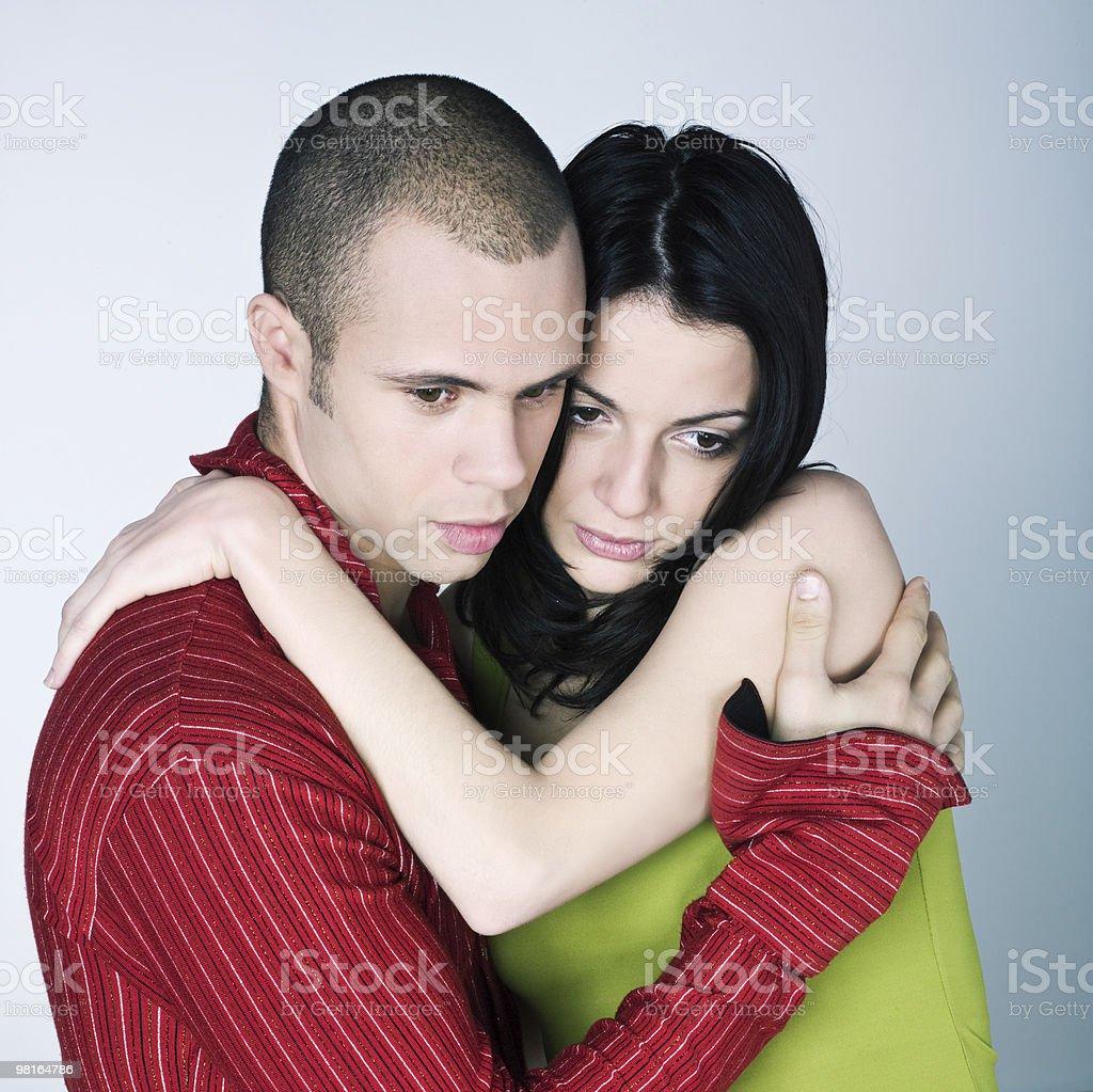 young couple bonding embracing hugging royalty-free stock photo
