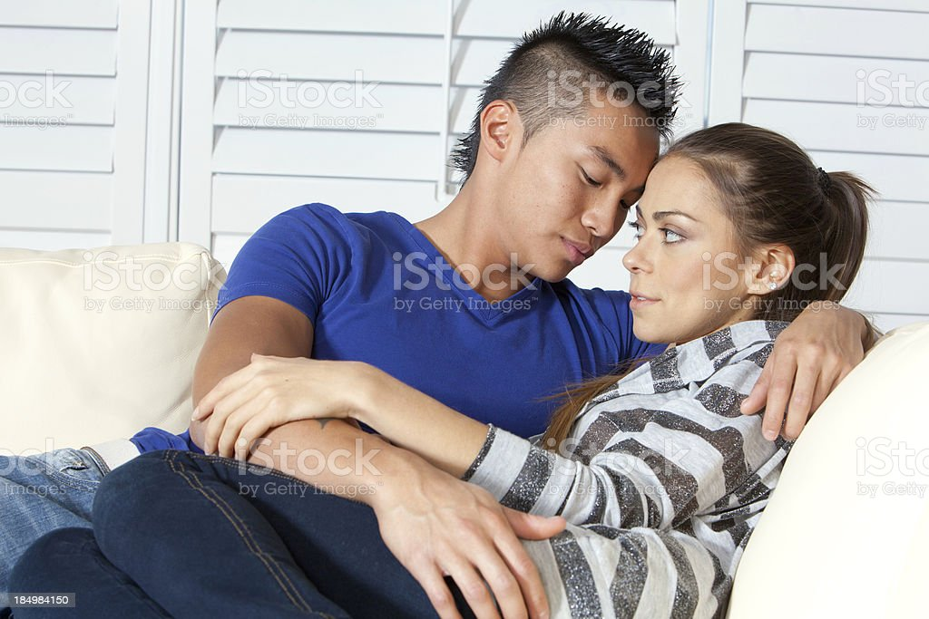 Young Couple Considering Intimacy stock photo