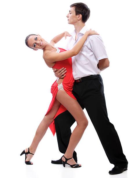 Young couple dances stock photo