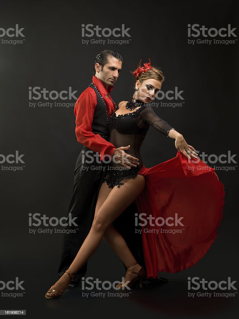 Young couple dancing royalty-free stock photo