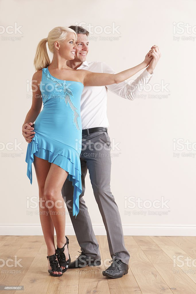 Young Couple Dancing Together stock photo