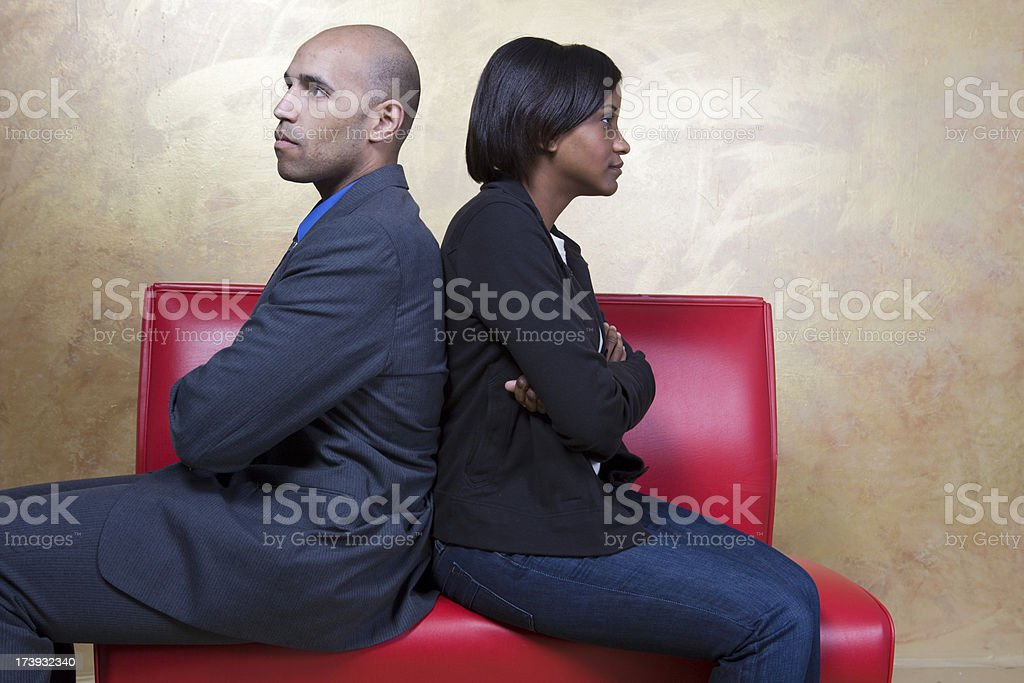 Young Couple Disagrees Over A Financial Decision royalty-free stock photo