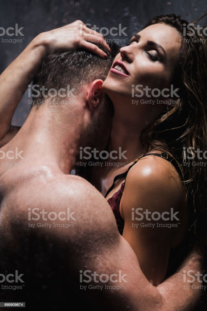 Young Couple During Passionate Foreplay Royalty Free Stock Photo